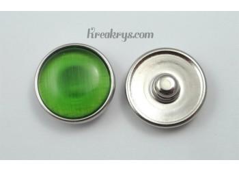 Bouton pression Oeil de chat vert clair