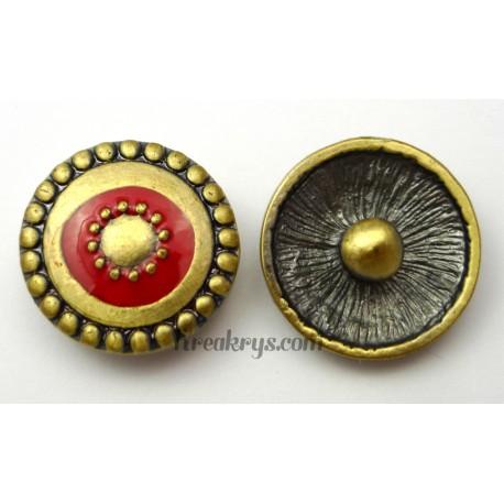 Bouton pression métal bronze Cercles concentriques