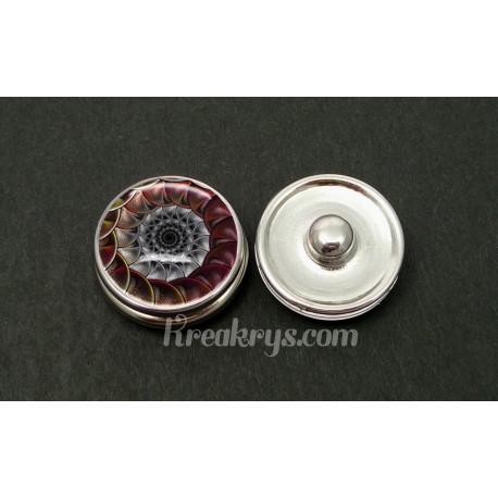 Bouton pression allégorie spirale coquillage