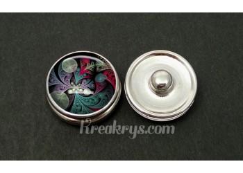 Bouton pression allégorie multicolore