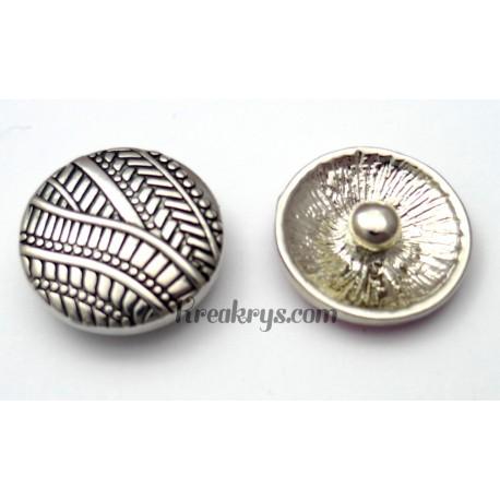Bouton pression métal argenté Tribal