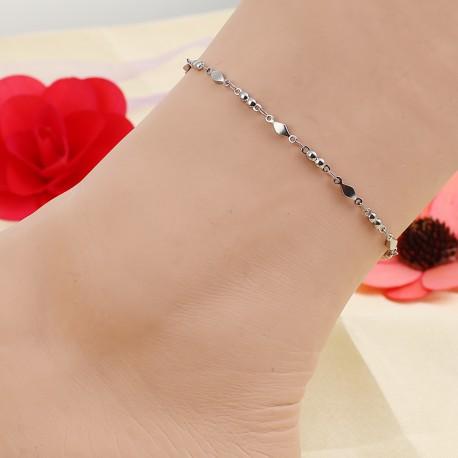 Bracelet de Cheville Acier Inoxydable Losange