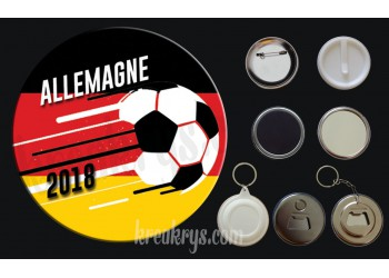 Badge Coupe du Monde de Foot 2018 : Allemagne