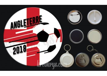 Badge Coupe du Monde de Foot 2018 : Angleterre