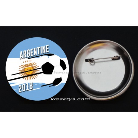 Badge Coupe du Monde de Foot 2018 : Argentine