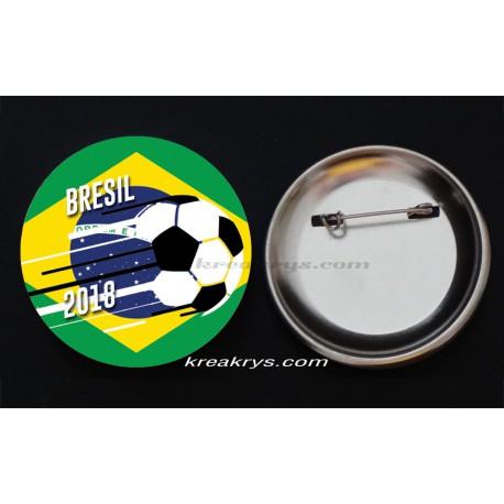 Badge Coupe du Monde de Foot 2018 : Brésil
