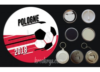 Badge Coupe du Monde de Foot 2018 : Pologne