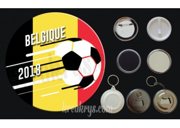 Badge Coupe du Monde de Foot 2018 : Belgique
