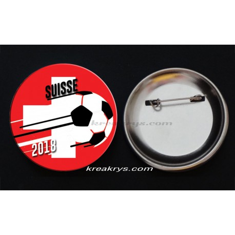 Badge Coupe du Monde de Foot 2018 : Suisse