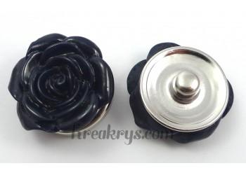 Bouton pression Rose bleu marine