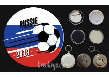 Badge Coupe du Monde de Foot 2018 : Russie