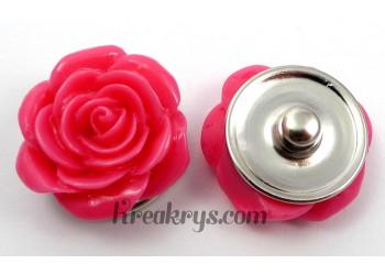 Bouton pression Rose rose