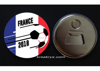 Badge 58 mm Décapsuleur aimanté coupe du monde de foot : France