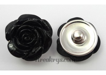 Bouton pression Rose noir