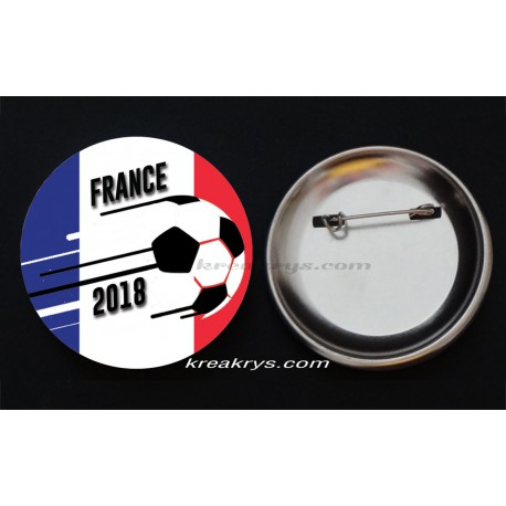 Badge Broche épingle collection Coupe du Monde de Foot 2018 : France
