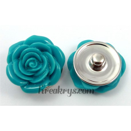 Bouton pression Rose turquoise