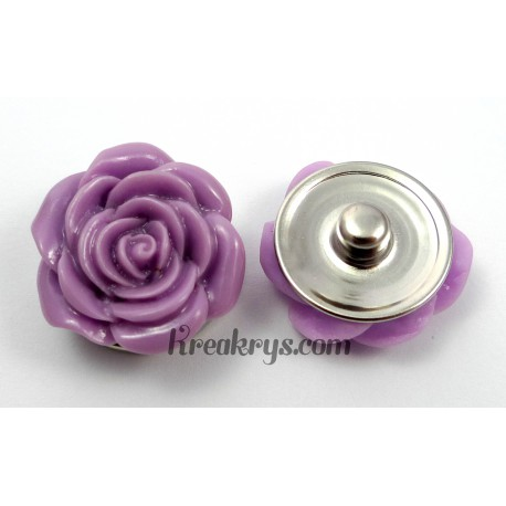 Bouton pression Rose violette