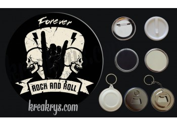 Badge Collection Rock : Forever Rock and Roll