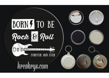 Badge Collection Rock : Born to be rock and roll