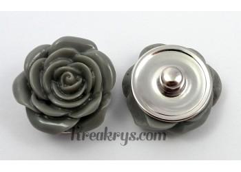 Bouton pression Rose grise