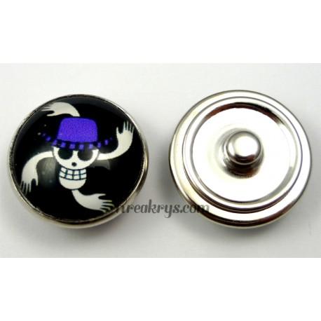 Bouton pression pirate manga Chapeau violet