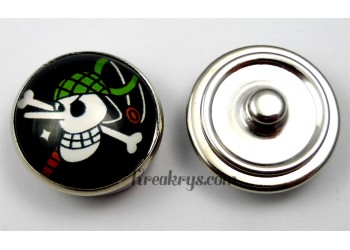Bouton pression pirate manga Grand nez