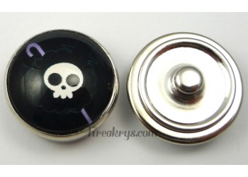 Bouton pression pirate Canne violette