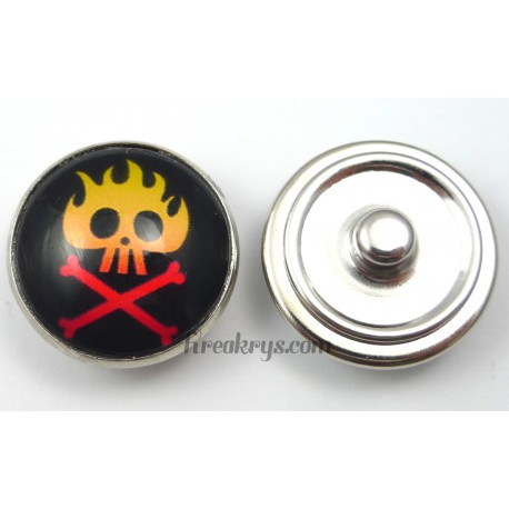 Bouton pression pirate Flamme rouge