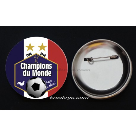Badge Collection Foot : Champion du Monde