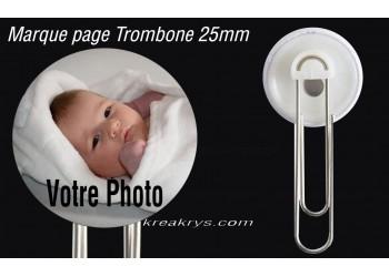 Badge 25 mm Marque page Trombone à Personnaliser avec une Photo