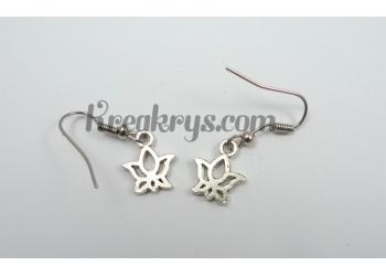 Boucles d'oreilles Charm's argentées lotus