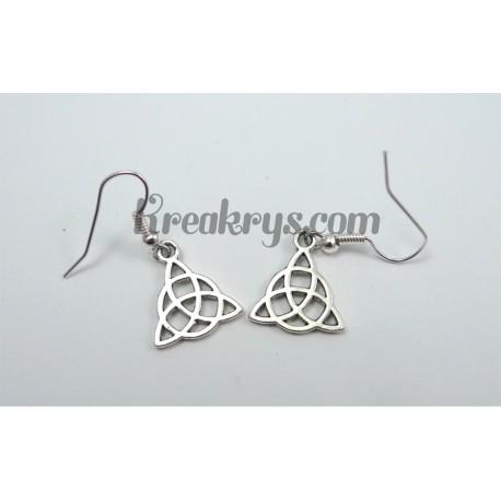 Boucles d'oreilles Charm's argentées nœuds celtes