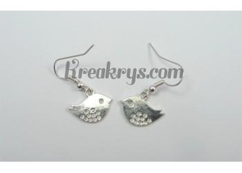 Boucles d'oreilles Charm's argentées oiseaux