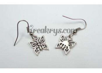 Boucles d'oreilles Charm's argentées papillons