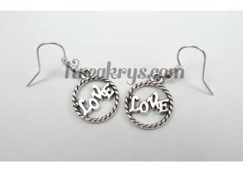 Boucles d'oreilles Charm's argentées love