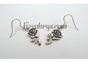 Boucles d'oreilles Charm's argentées rose