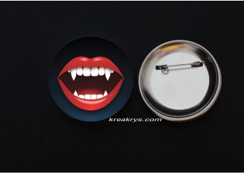Badge Broche épingle Halloween Bouche Vampire