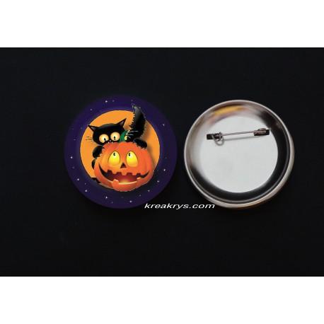 Badge Broche Epingle Halloween