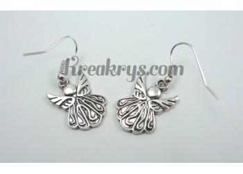 Boucles d'oreilles Charm's argentées angel