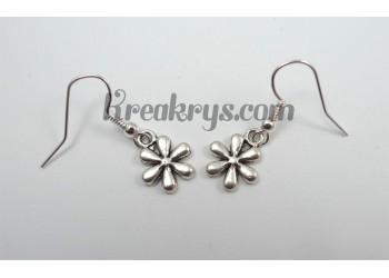 Boucles d'oreilles Charm's argentées fleur
