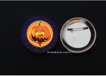 Badge Broche épingle Halloween Citrouille