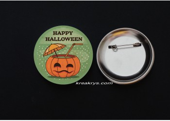 Badge Broche épingle Halloween Rétro Citrouille
