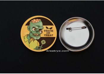 Badge Broche épingle Halloween Rétro Zombie