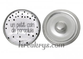 "Bouton pression verre collection ""Un Petit Coin de Parapluie"""
