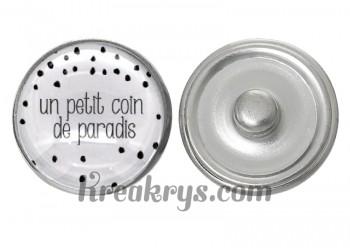 "Bouton pression verre collection ""Un Petit Coin de Parapluie"" : un petit coin de paradis"