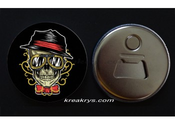 Badge 58 mm Décapsuleur : Dad Skull