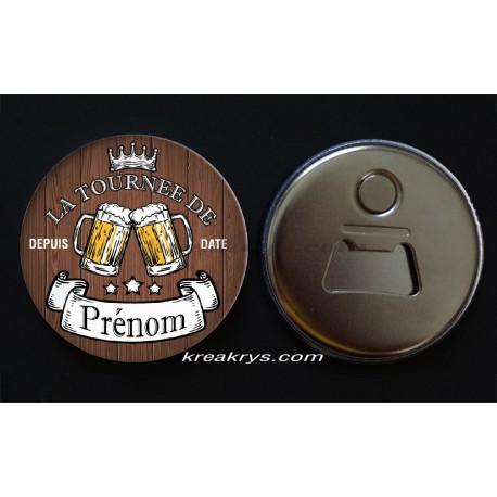 Badge 58mmDécapsuleur Aimanté