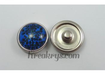 Bouton pression Arbre noir fond couleur bleu foncé