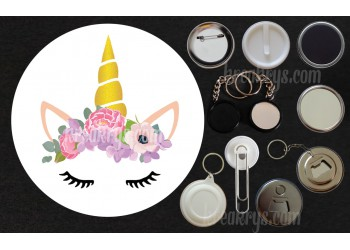 Badge Collection Licorne : Bohème pivoines