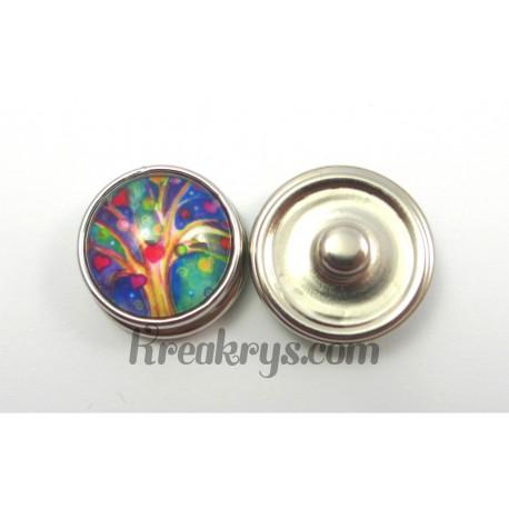 Bouton pression Arbre multicolore